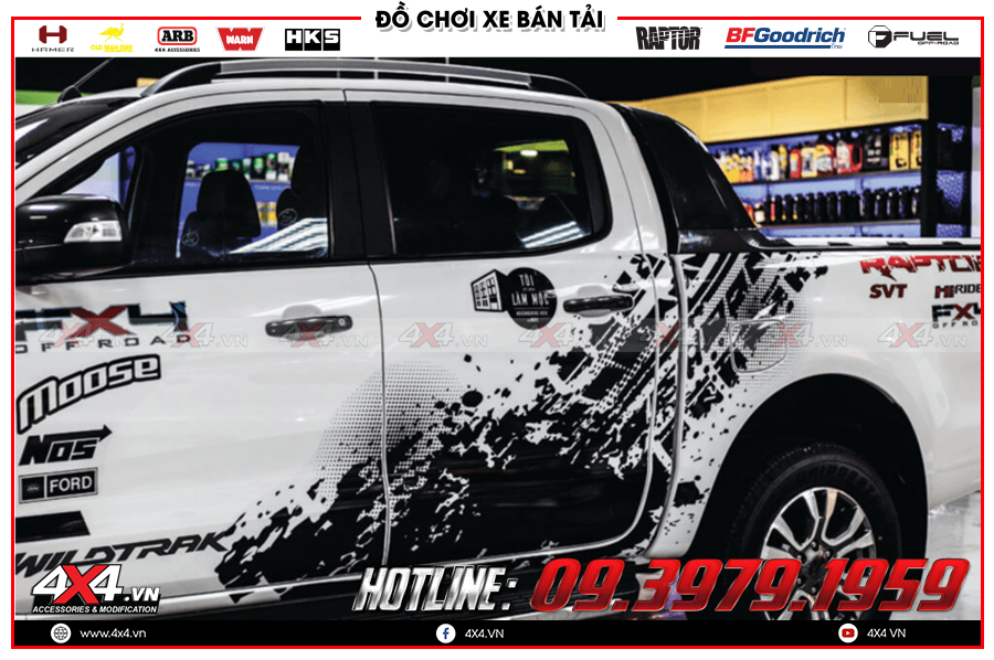 Những điểm nổi bật khi độ cửa hít tự động xe Ranger Raptor tại 4x4