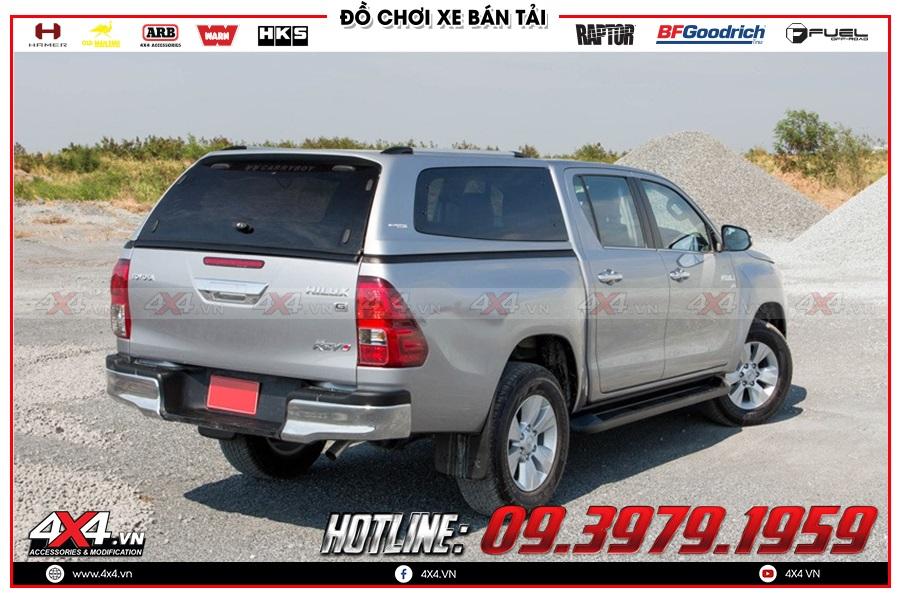 Lên nắp thùng cao cho xe Toyota Hilux 2020 chất lượng ở 4x4