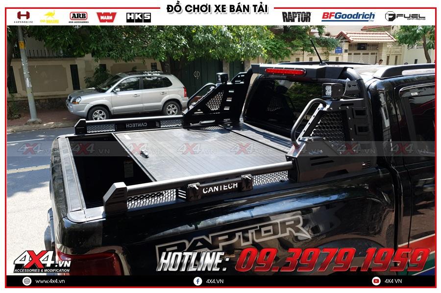Lắp nắp thùng cuộn cho xe Ranger Raptor 2020 giá rẻ ở 4x4