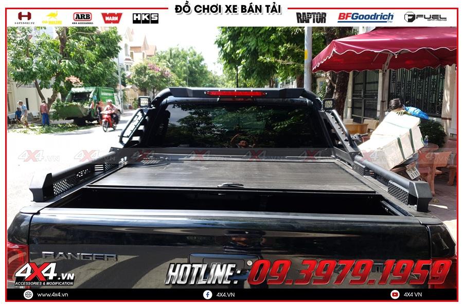 Tư vấn thay nắp thùng cuộn lên cho xe Ranger Raptor 2020 sao cho giá rẻ tại 4x4
