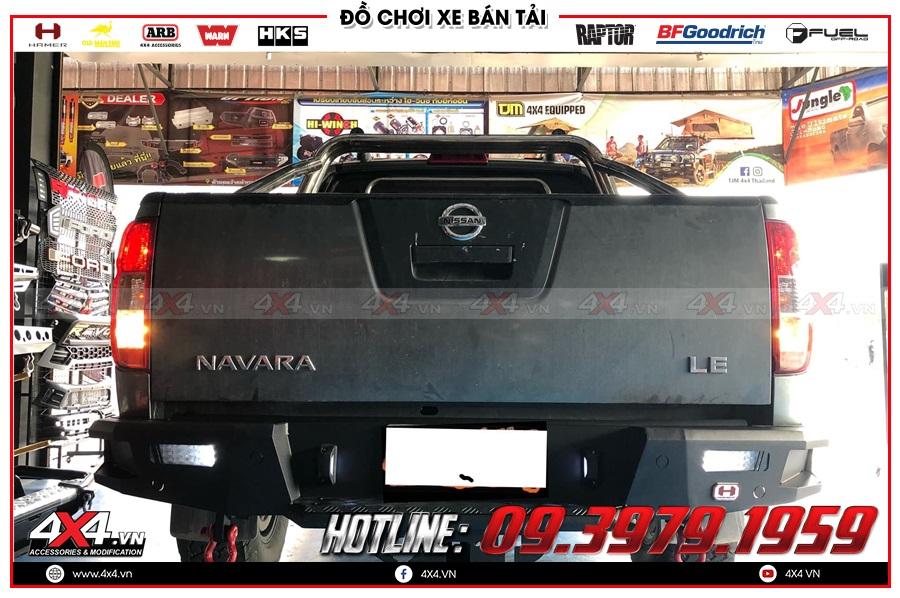 Lắp cản sau Hamer cho xe Nissan Navara cực khủng tại 4x4