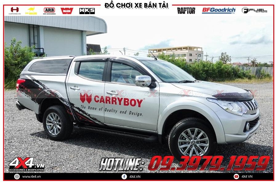 Lắp nắp thùng cao cho xe Mitsubishi Triton 2020 cực tiện dụng ở 4x4