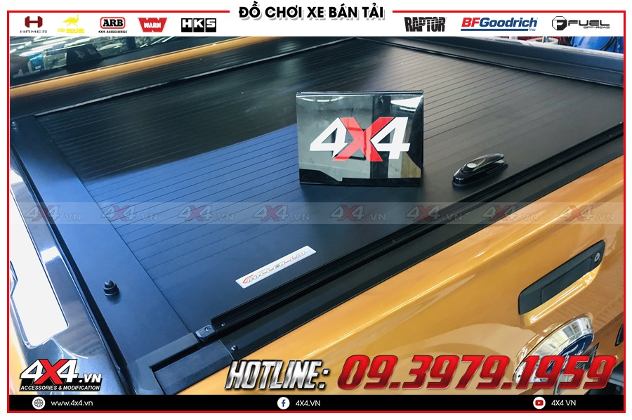 Lên nắp thùng cuộn cho xe Ford Ranger 2020 giá rẻ ở 4x4