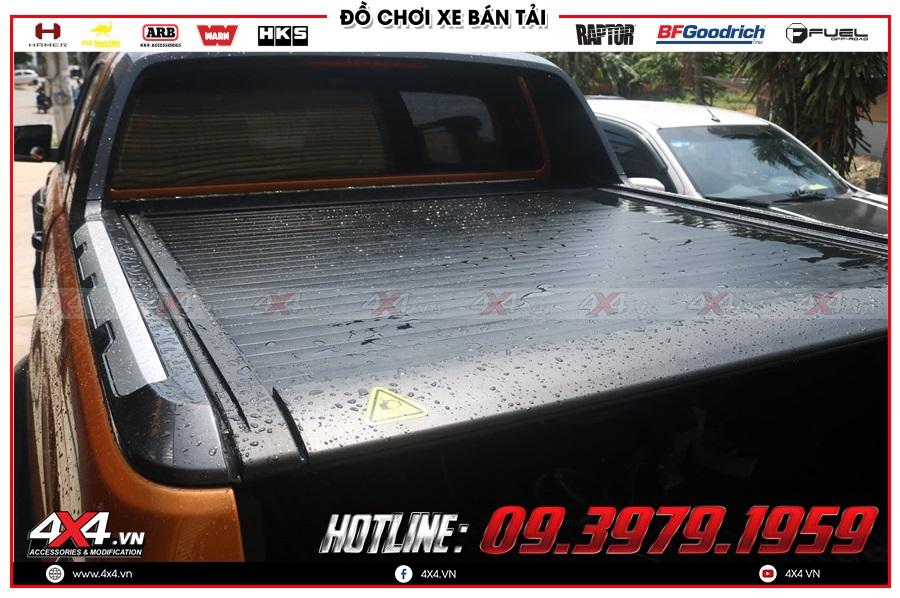 Review độ nắp thùng remote điện xe Ford Ranger