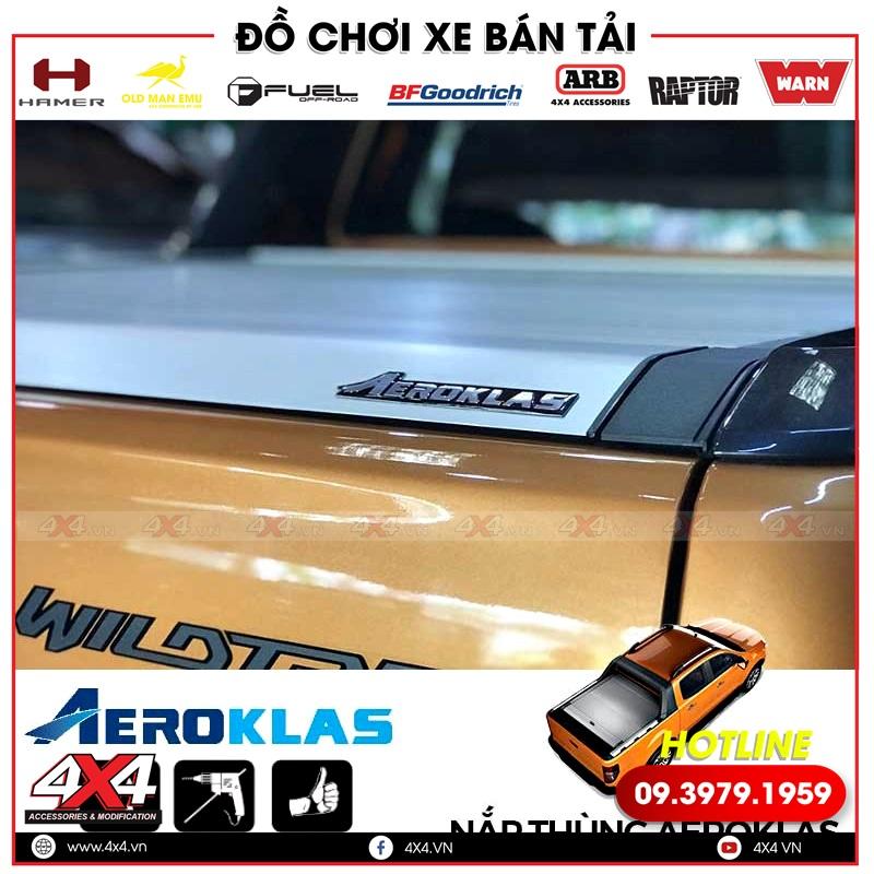Xe bán tải Ford Ranger độ nắp thùng Aeroklas giúp xe thêm gọn, đẹp và tiện lợi hơn rất nhiều