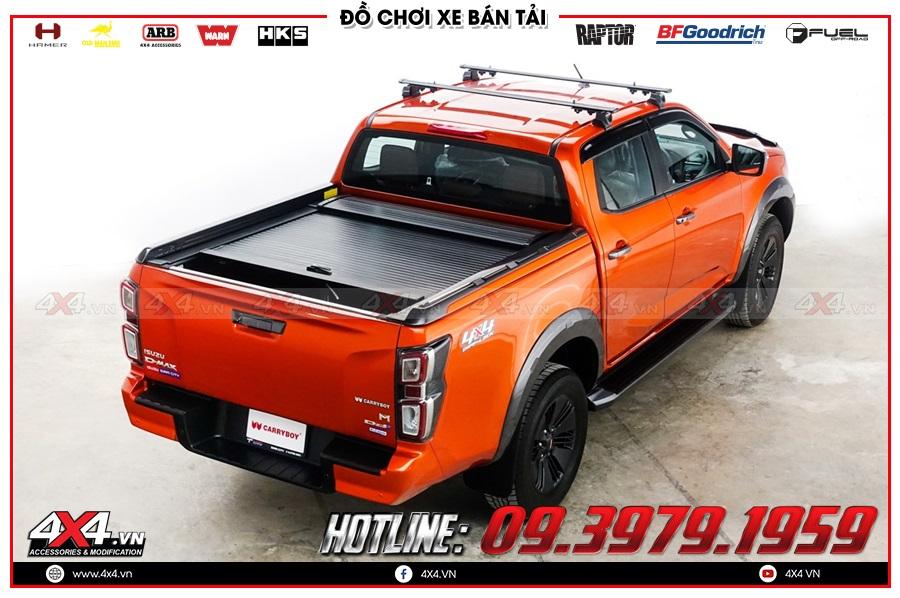 Lưu ý khi độ nắp thùng cuộn dành cho xe Isuzu Dmax 2020 sao cho giá rẻ tại 4x4