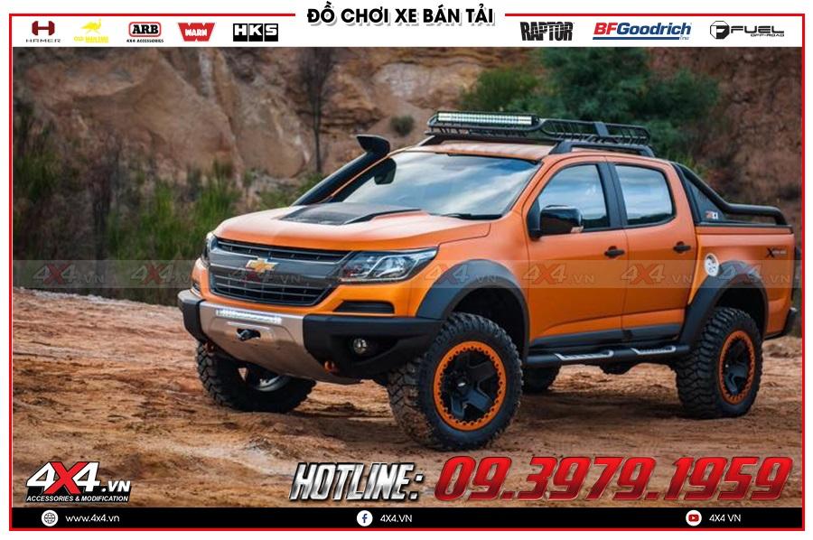 Lên ống thở cho xe Chevrolet Colorado 2020 cực ngầu tại 4x4