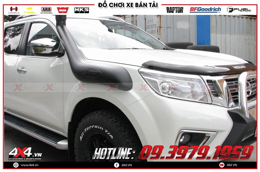 Lên ống thở cho xe Nissan Navara 2020 cực chất tại 4x4