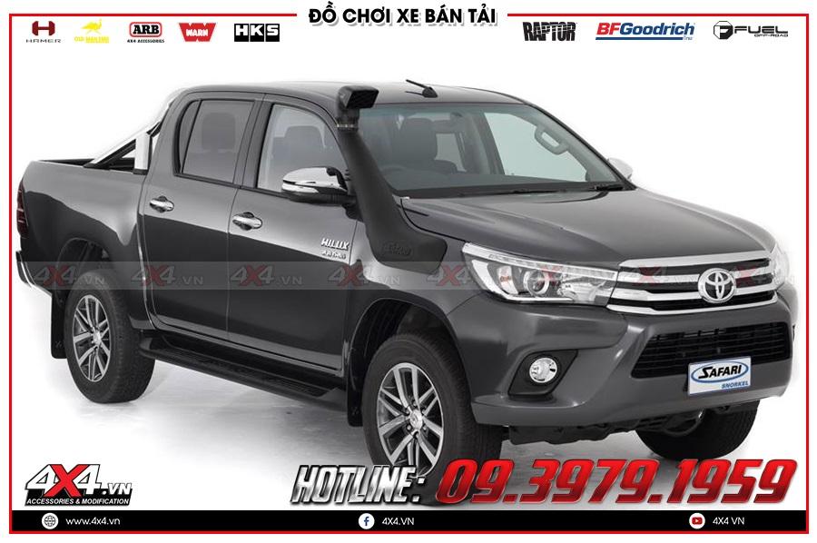 Tư vấn gắn ống thở lên cho xe Toyota Hilux 2020 sao cho đỉnh tại 4x4