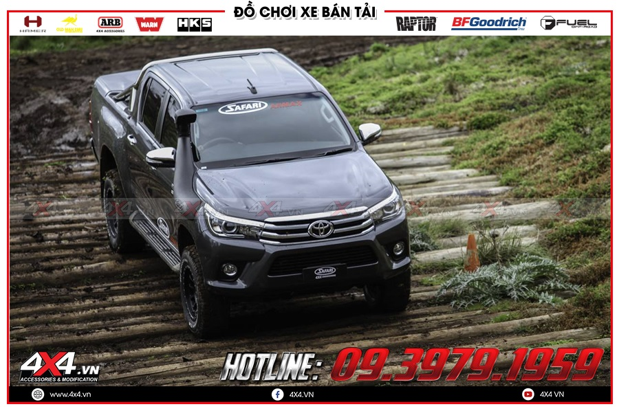 Chuyên độ ống thở dành cho xe Toyota Hilux 2020 hàng nhập Thái Lan