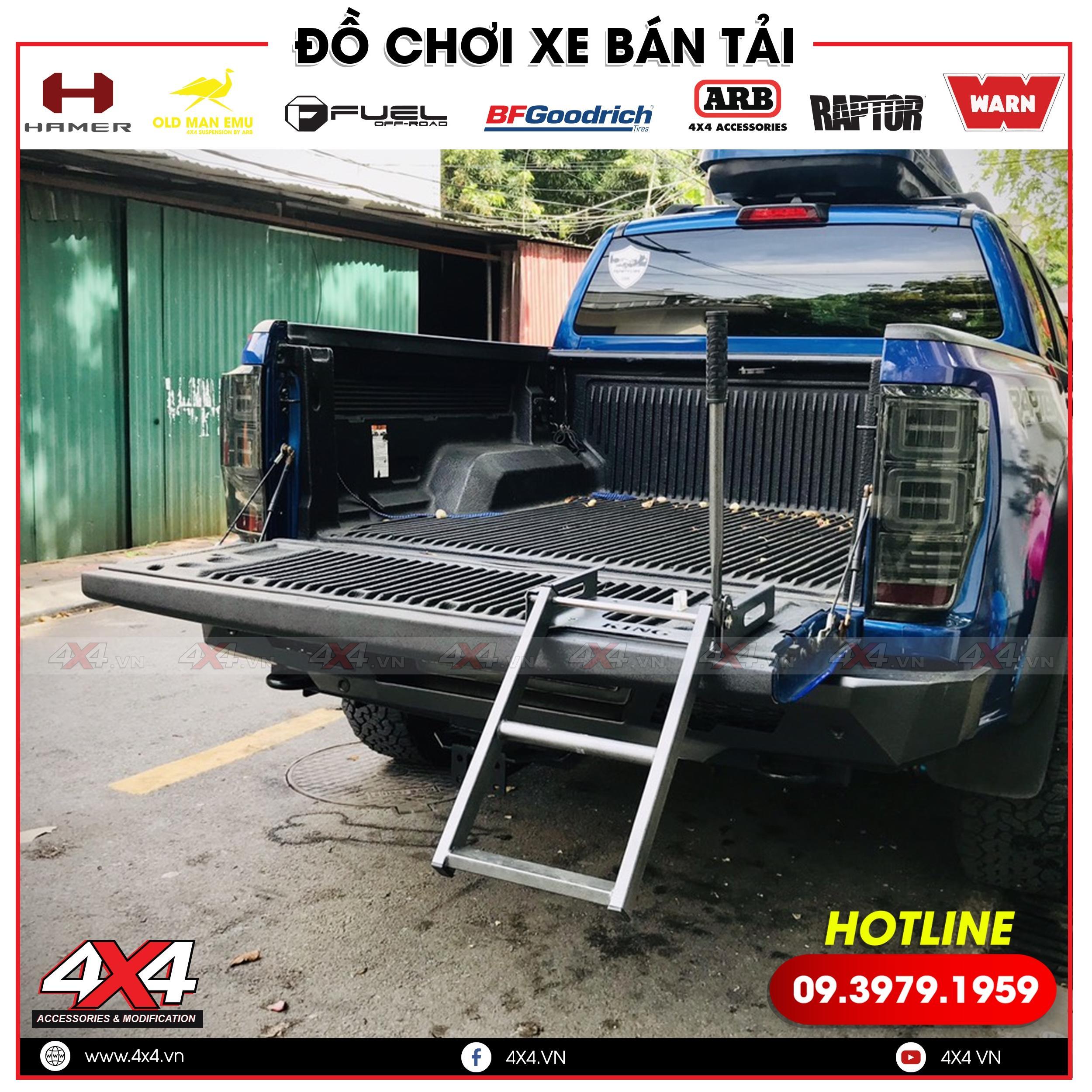 Thay bậc lên xuống thùng sau xe Bán tải nhiều tiện ích tại TP.HCM