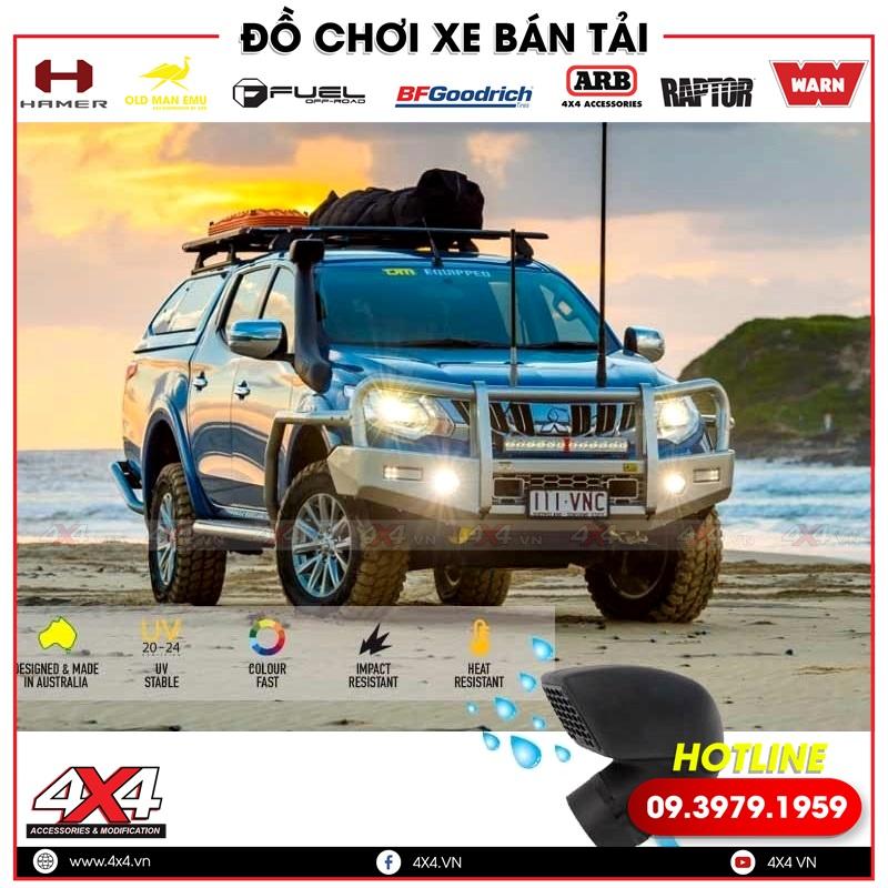 Xe bán tải Mitsubishi Triton độ thêm ống thở giúp xe ngầu hơn, đẹp hơn và đẳng cấp hơn