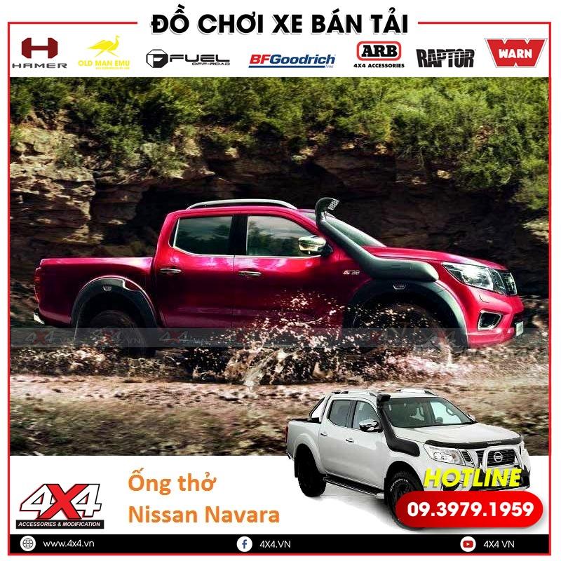 Xe bán tải Nissan Navara độ ống thở giúp đi off-road mạnh mẽ hơn, tiện lợi hơn