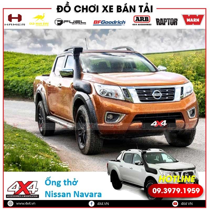 Ống thở còn là phụ kiện độ đẹp và trang trí hầm hố cho xe bán tải Nissan Navara