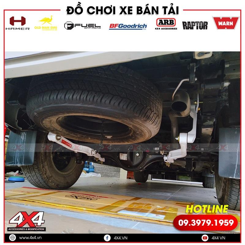 Xe bán tải Ford Ranger độ thanh cân bằng giúp xe chở tài tốt hơn, giữ thăng bằng tốt hơn khi đi qua các đoạn đường gồ ghề
