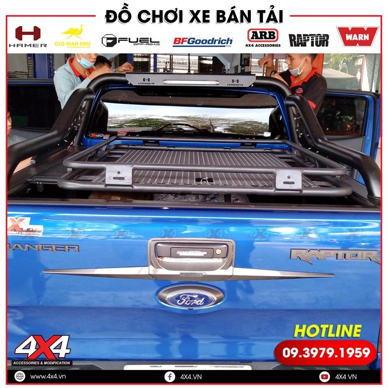Baga mui Rhino độ đẹp dành cho xe bán tải Ford Ranger Raptor