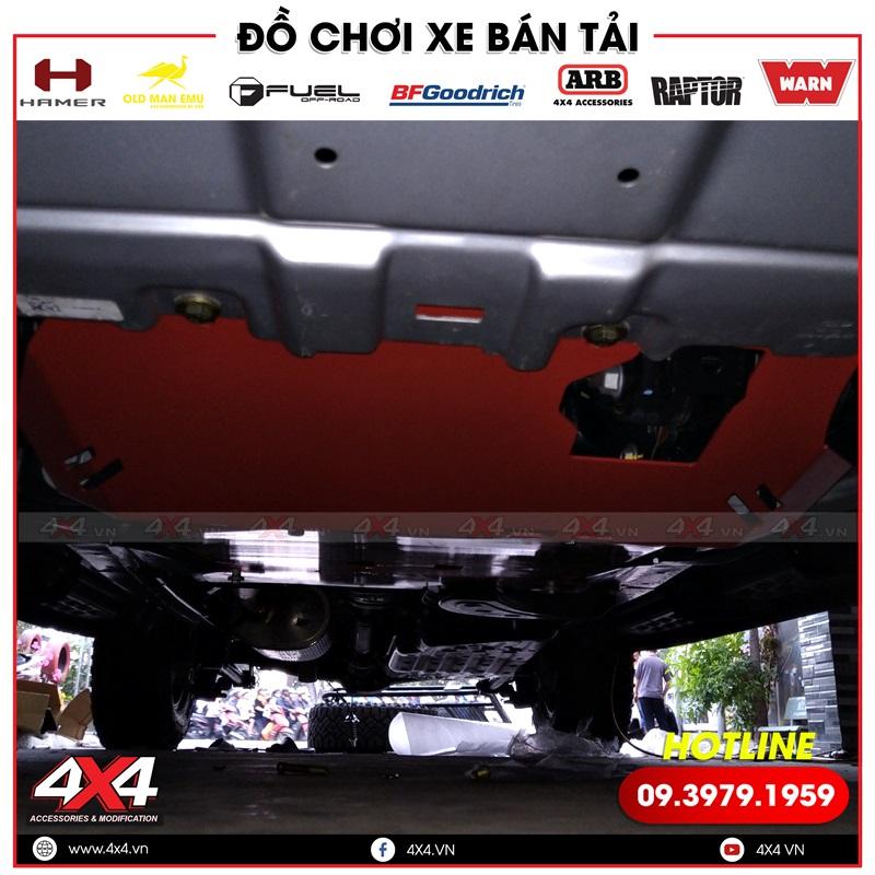 Độ thêm giáp gầm giúp chống đá văng vào gầm xe gây hỏng hóc