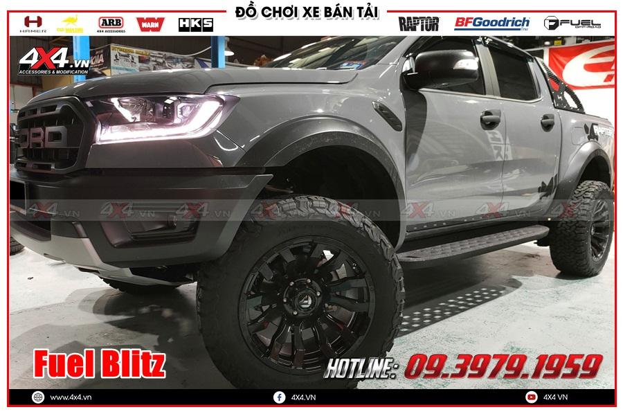 Hình ảnh độ mâm Fuel Blitz cho xe Ranger Raptor 2020 2021 tại Sài Gòn