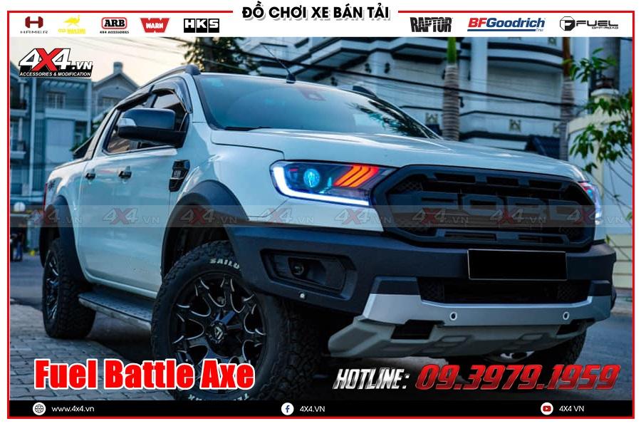 Hình ảnh độ mâm Fuel Battle Axe cho xe Ranger Raptor 2020 2021 ở TP Hồ Chính Minh