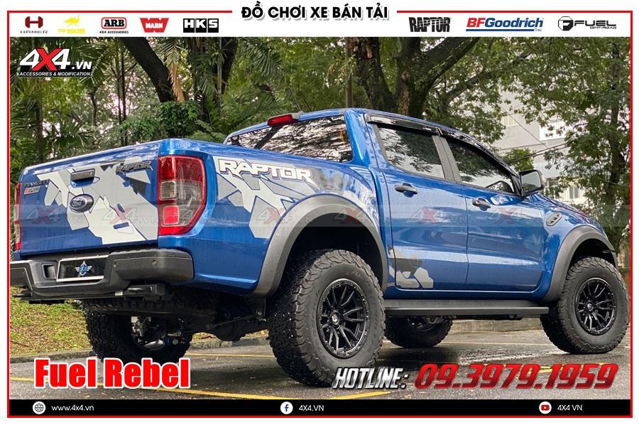Hình ảnh độ mâm Fuel cho xe Ranger Raptor 2020 2021 tại Sài Gòn