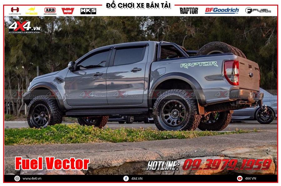 Công ty độ mâm Ranger Raptor 2020 2021 Fuel Vector chính hãng ở Sài Gòn