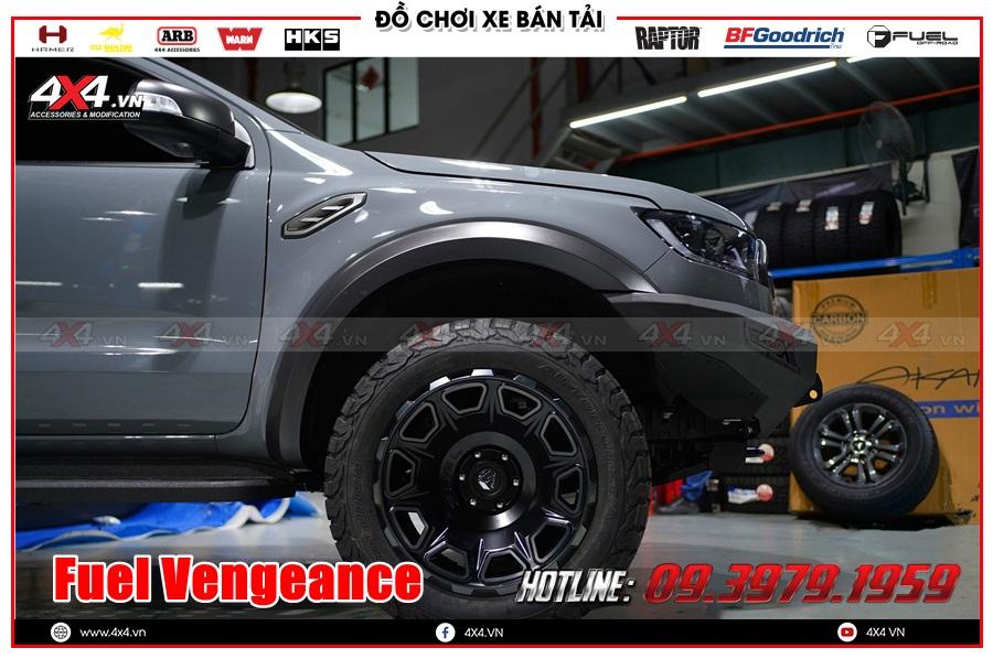 Hình ảnh độ mâm Fuel Vengeance cho xe Ranger Raptor 2020 2021 ở HCM