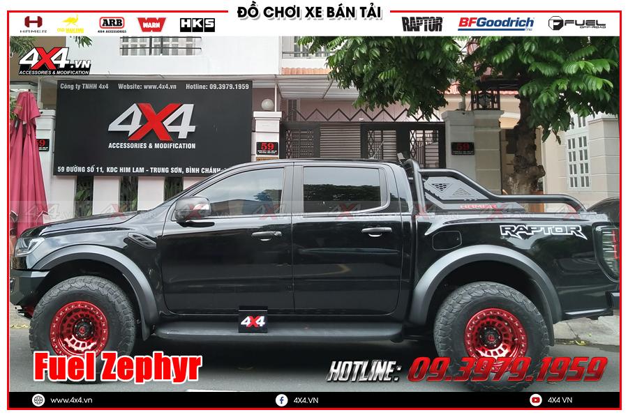 Độ mâm cho xe Ranger Raptor 2020 2021 chính hãng Fuel Zephyr ở TP HCM