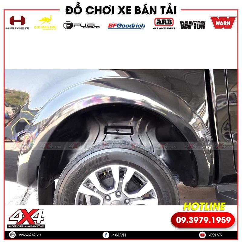Ốp lồng vè giúp cho phần hốc bánh xe thêm sạch hơn và sáng hơn rất nhiều
