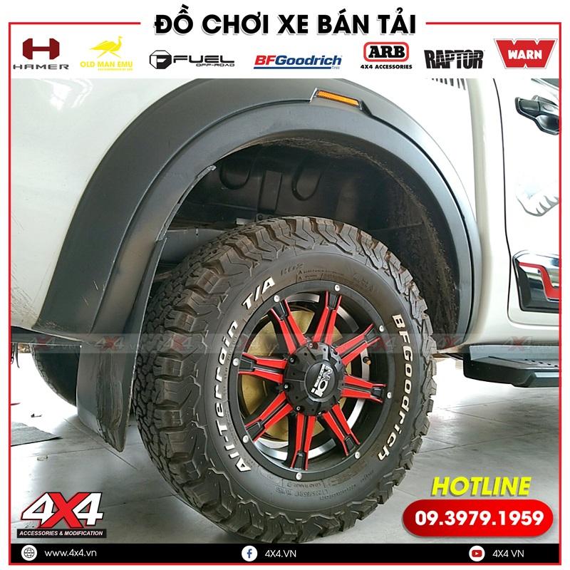 Ốp cua lốp giúp tăng vẻ ngoài cứng cáp và giúp bảo vệ phần hông xe