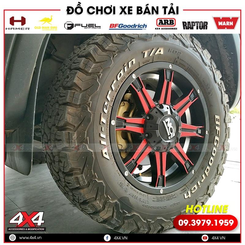 Độ mâm và lốp giúp xe bán tải Ford Ranger thêm đẳng cấp và đẹp hơn rất nhiều