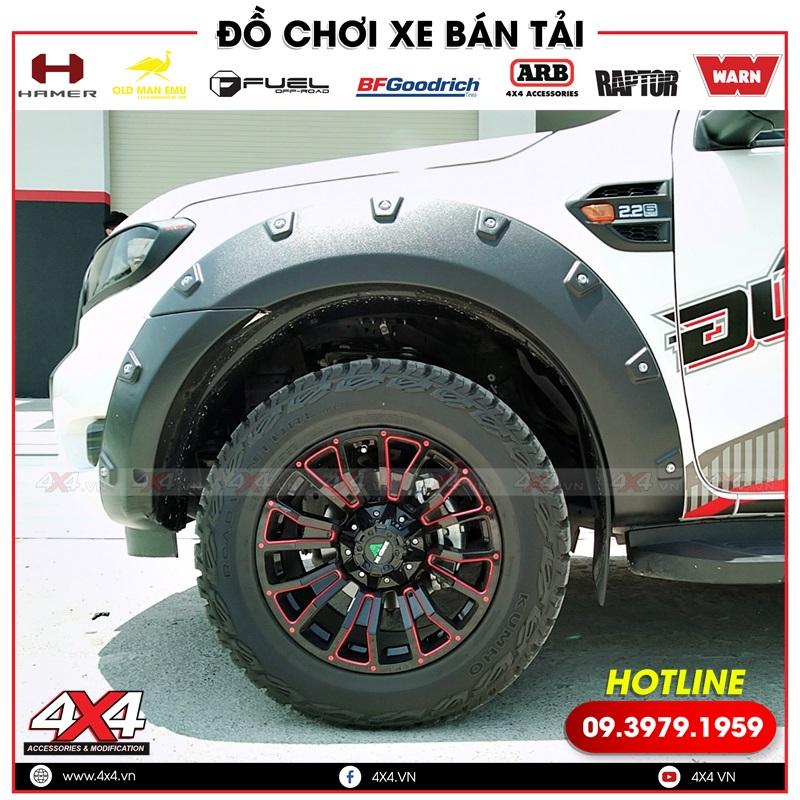 Ốp cua lốp độ giúp xe thêm hầm hố và cứng cáp hơn