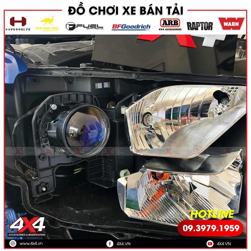Bi led tăng sáng cực đẹp độ cho xe bán tải Ford Ranger XLS, XLT, Wildtrak, Raptor