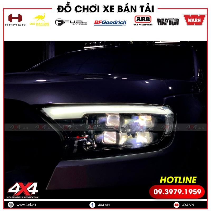 Độ cụm đèn trước 4 bi led không chỉ giúp xe thêm đẹp hơn, ngầu hơn mà còn tăng sáng cực hiệu quả
