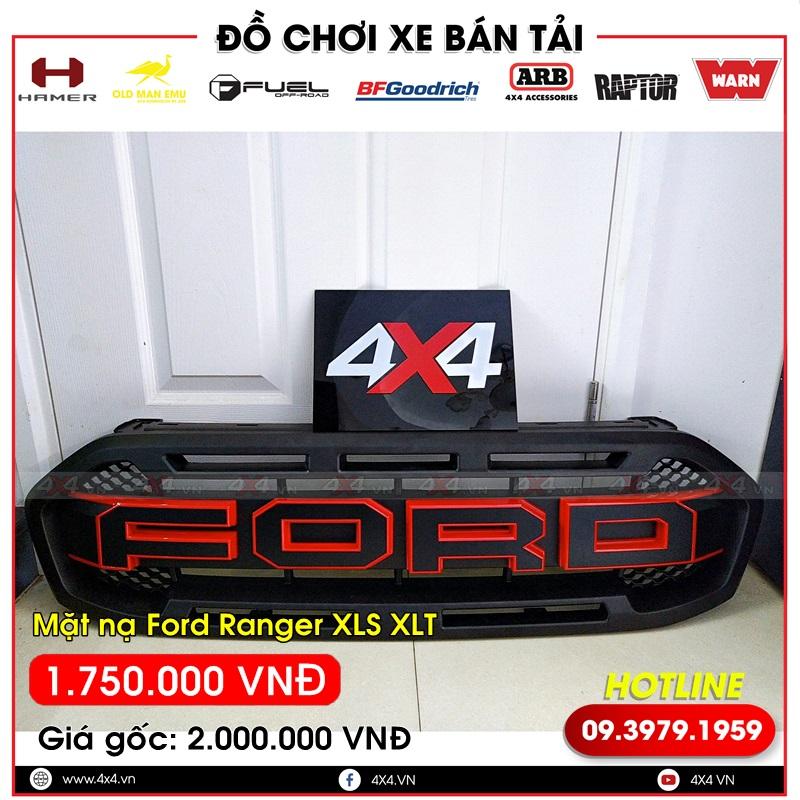 Mặt nạ chữ Ford màu đen viền đỏ cực đẹp và ngầu dành độ cho xe bán tải Ford Ranger XLS XLT