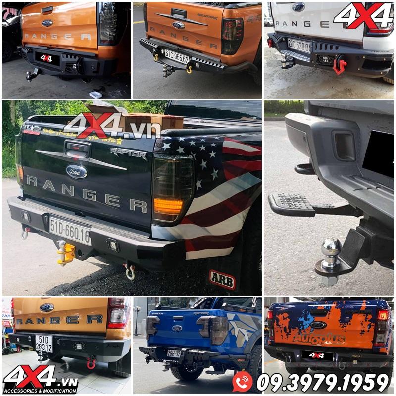 Những mẫu cản sau độ đẹp và hầm hố cho xe bán tải Ford Ranger