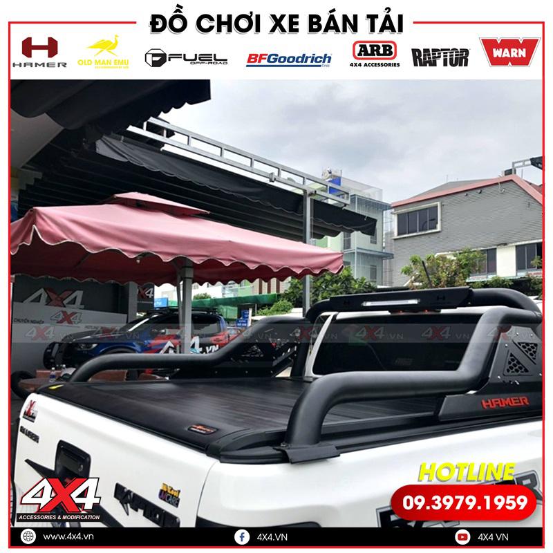 Xe bán tải Ford Ranger Raptor độ nắp thùng cuộn điện và thanh thể thao Hamer đẹp và đẳng cấp