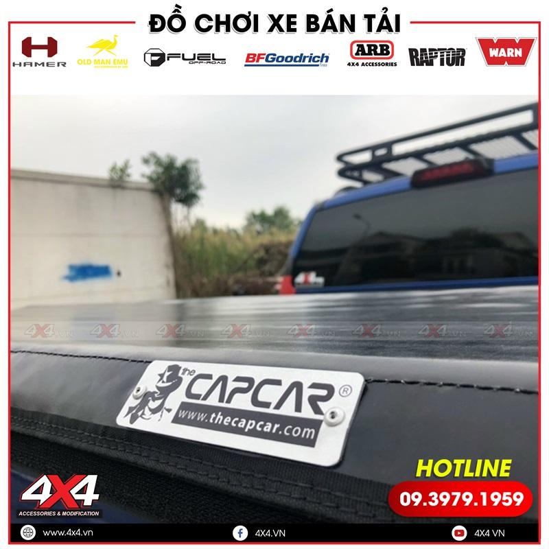 Nắp thùng cuộn mêm Capcar cực kì tiện nghi dành cho xe bán tải Ford Ranger Raptor
