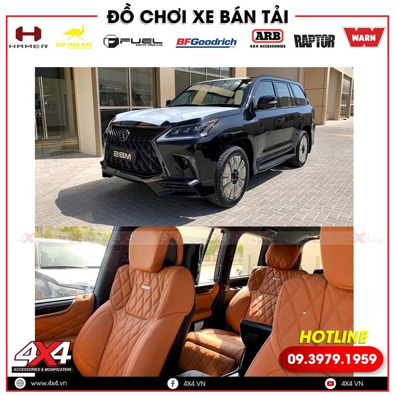 Xe sang Lexus 570 và Toyota Land Cruiser độ nội thất MBS đẳng cấp và sang trọng