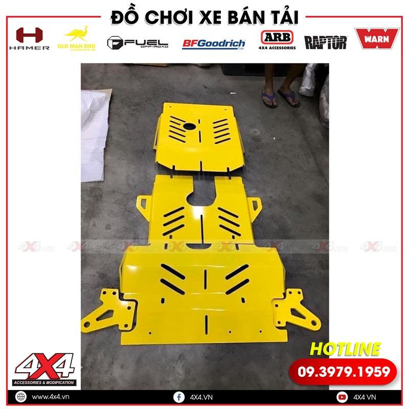 Ốp giáp gầm OFX màu vàng độ cho xe bán tải