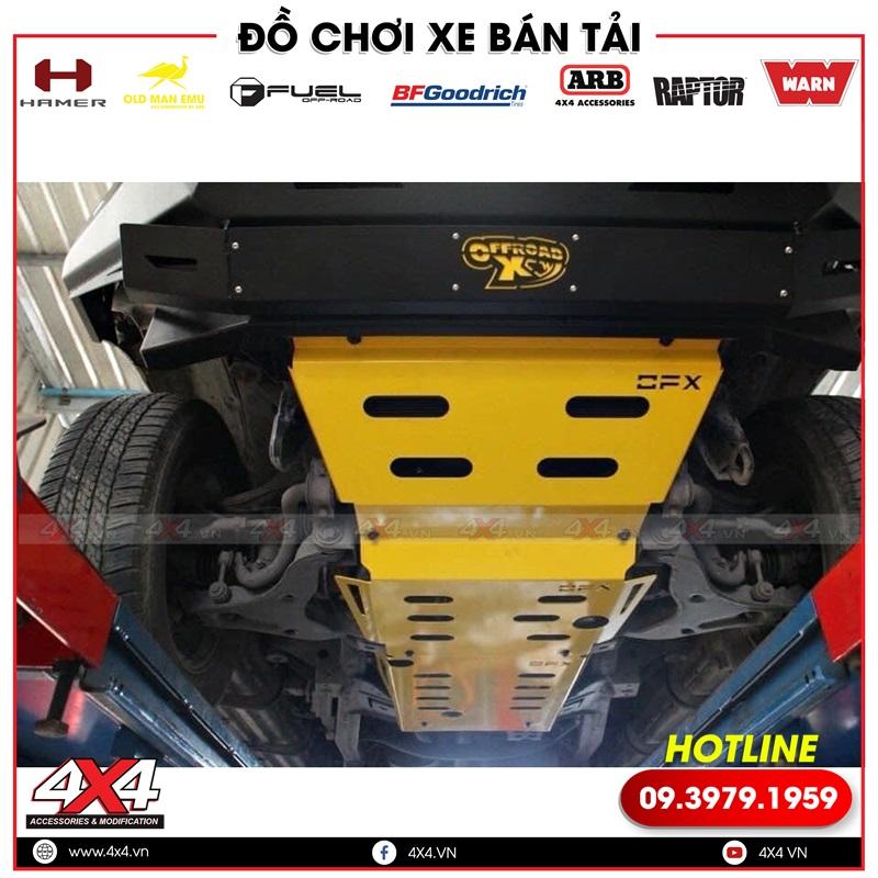 Ốp giáp gầm OFX độ bảo vệ các chi tiếp máy gầm xe bán tải