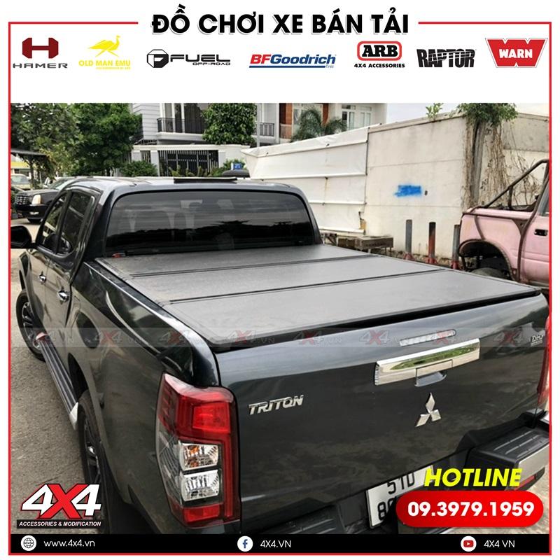 Hình ảnh nắp thùng 3 tấm độ đẹp, và sang trọng dành cho xe bán tải Mitsubishi Triton