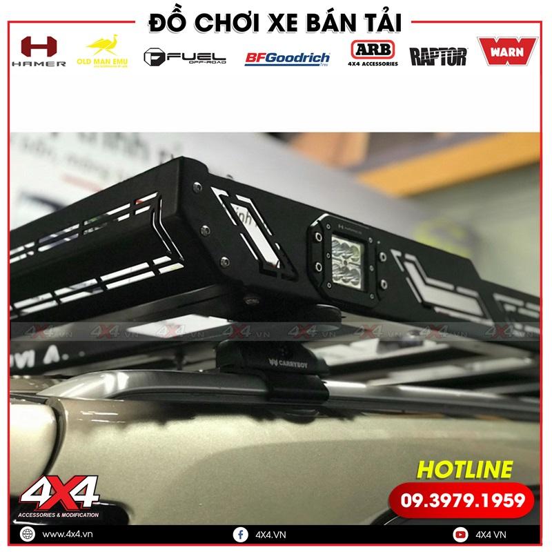 Baga mui Hamer có đèn trợ sáng cực tiện lợi dành cho xe Ford Everest