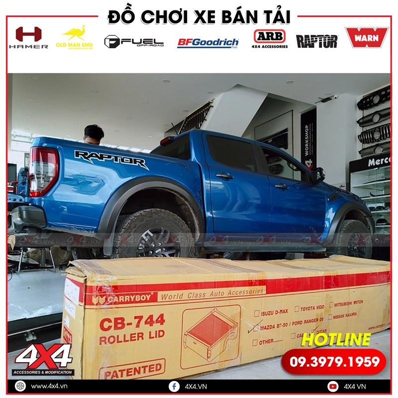 Xe bán tải Ford Ranger chuẩn bị độ nắp thùng cuộn Carryboy