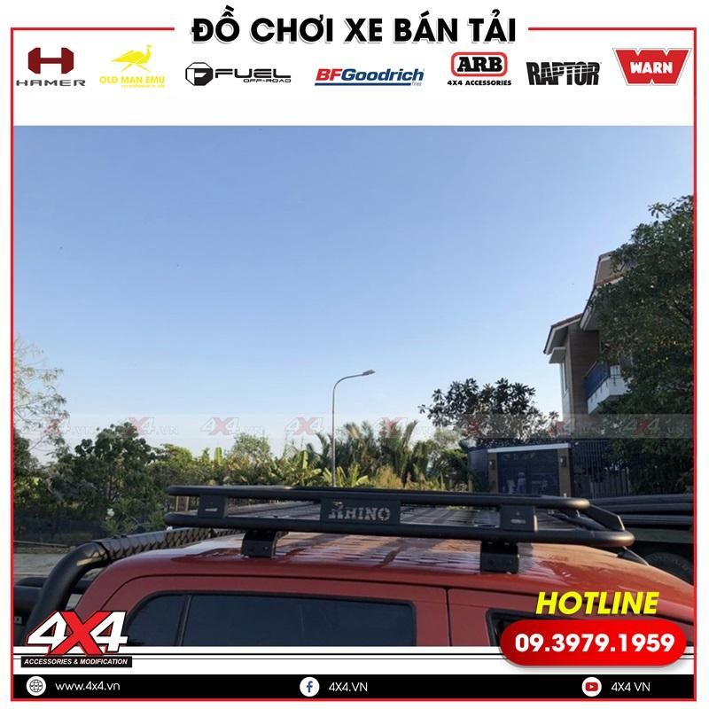 Baga mui Rhino độ giúp xe bán tải Toyota Hilux thêm đẹp hơn và mạnh mẽ hơn