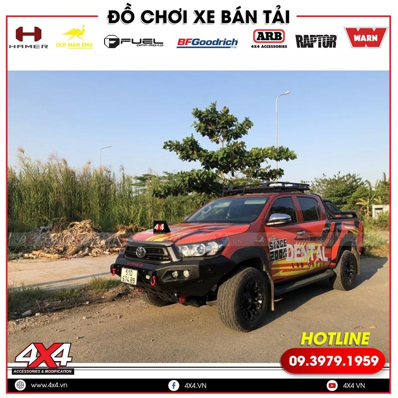Xe bán tải Toyota Hilux độ đẹp, chất và đẳng cấp với nhiều món đồ chơi độ đẹp và hầm hố