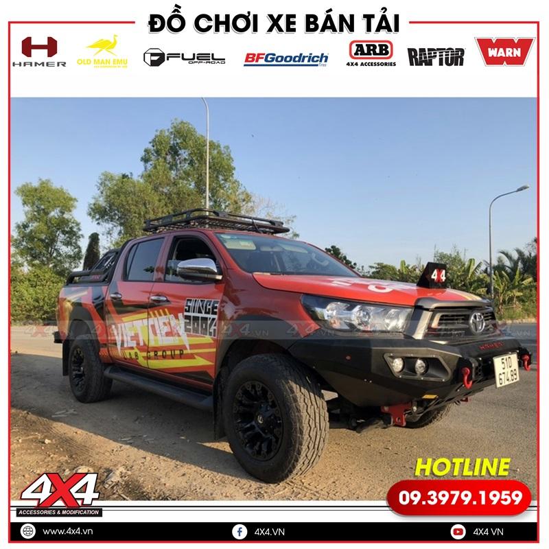 Mâm độ Fuel Vapor độ đẹp và cứng cáp cho xe bán tải Toyota Hilux