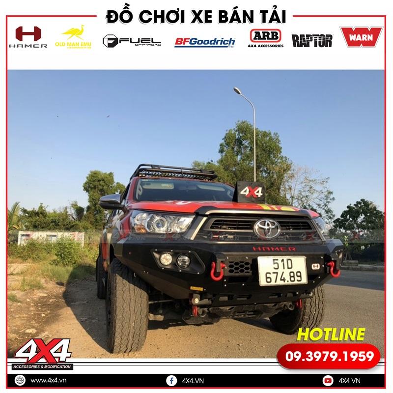 Mẫu cản trước Hamer độ đẹp và chất dành cho xe bán tải Toyota Hilux