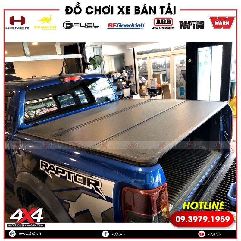 Nắp thùng 3 tấm độ đẹp và sang dành cho xe bán tải Ford Ranger Raptor