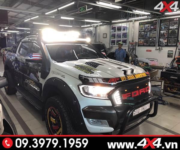 Nơi Đèn led bar trợ sáng xe Ford Ranger hàng cực chuẩn
