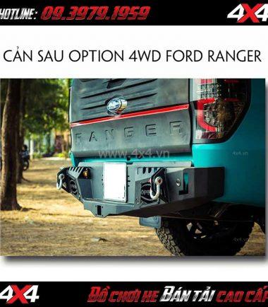Tấm ảnh: Cản sau Option 4WD Thái Lan cho xe bán tải Ford Ranger 2018 2019 tại TpHCM